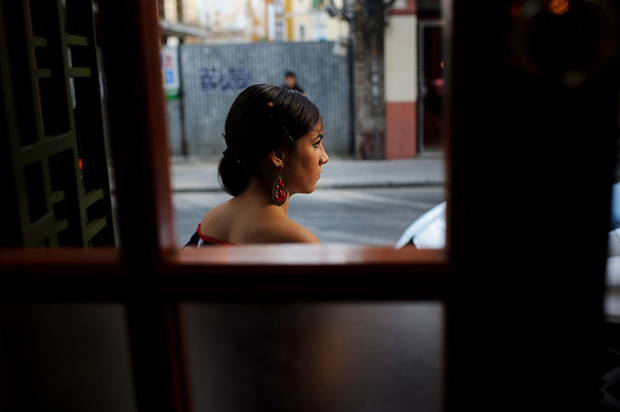 Flamenco dancer on the street of Malaga