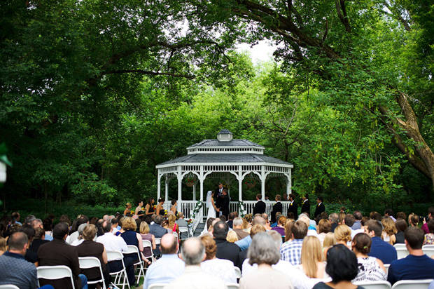 gazebo wedding ceremony a touch of class cedar rapids