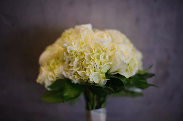 white wedding bouquet by Hyvee Waterfront