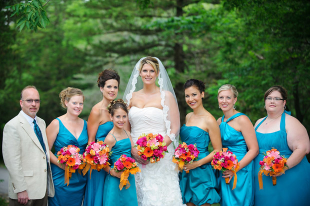 Bride with the bridal party