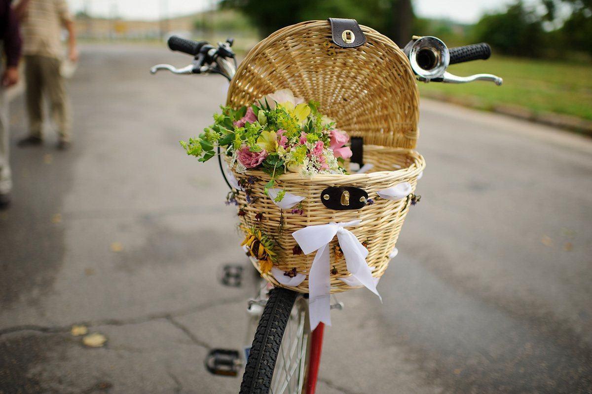 wedding tandem bike detail