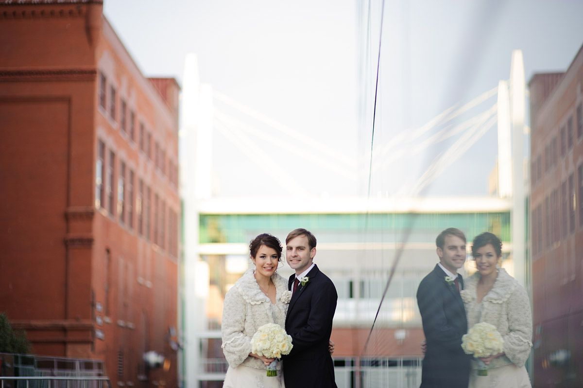 Wedding portraits at the figge davenport museum