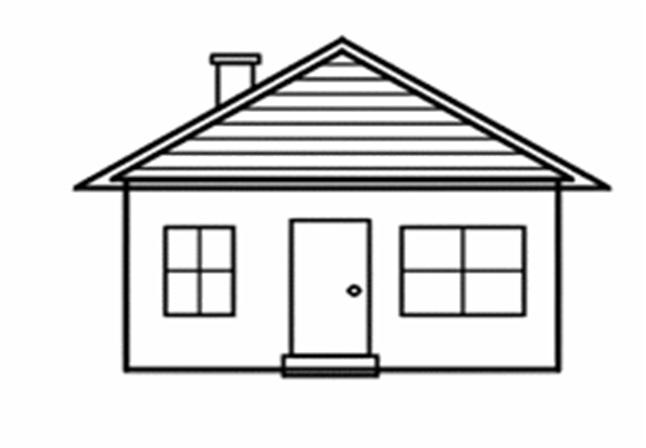 одноэтажный дом рисунок карандашом отделке салона использована