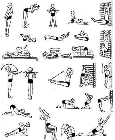 Упражнения В Картинках Для Осанки