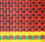 Serape red close-up