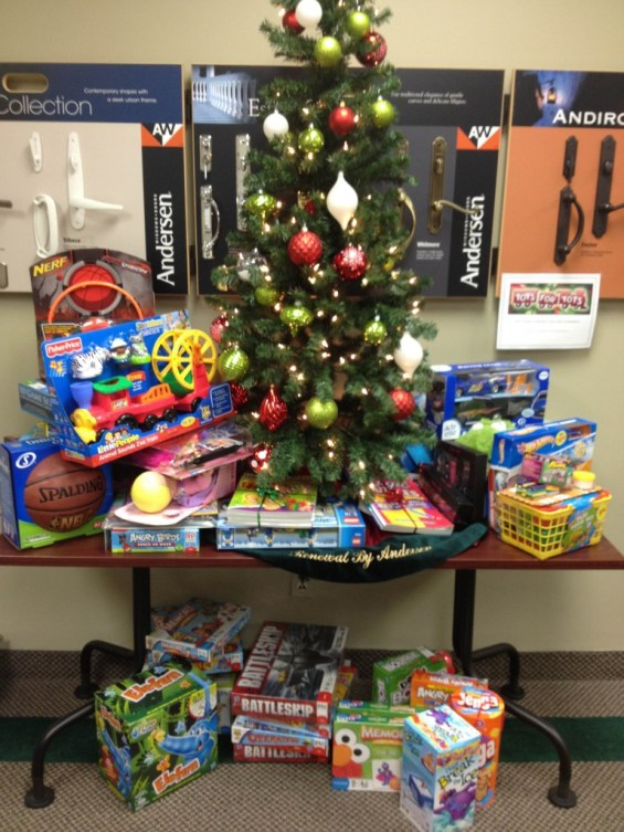 Toys donated from Renewal by Andersen Toys for Tots Drive