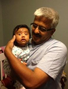 With Arun's daughter Aradhya