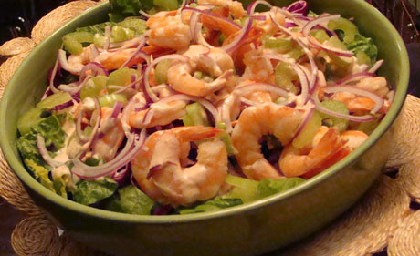 shrimp cocktail salad