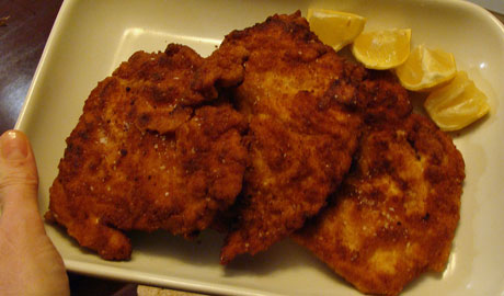 chicken milanese, breaded chicken cutlets