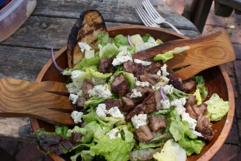 how to make steak salad
