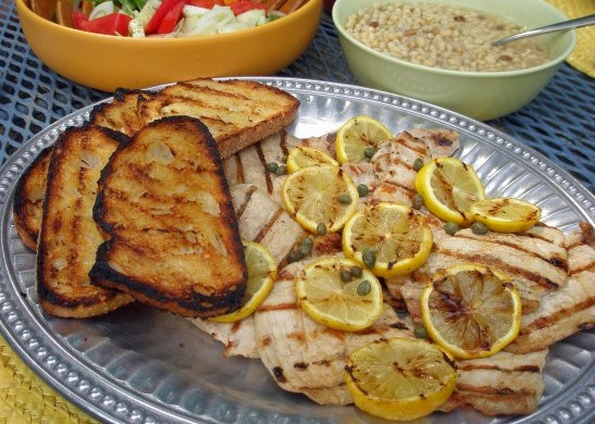 grilled pork chops piccata