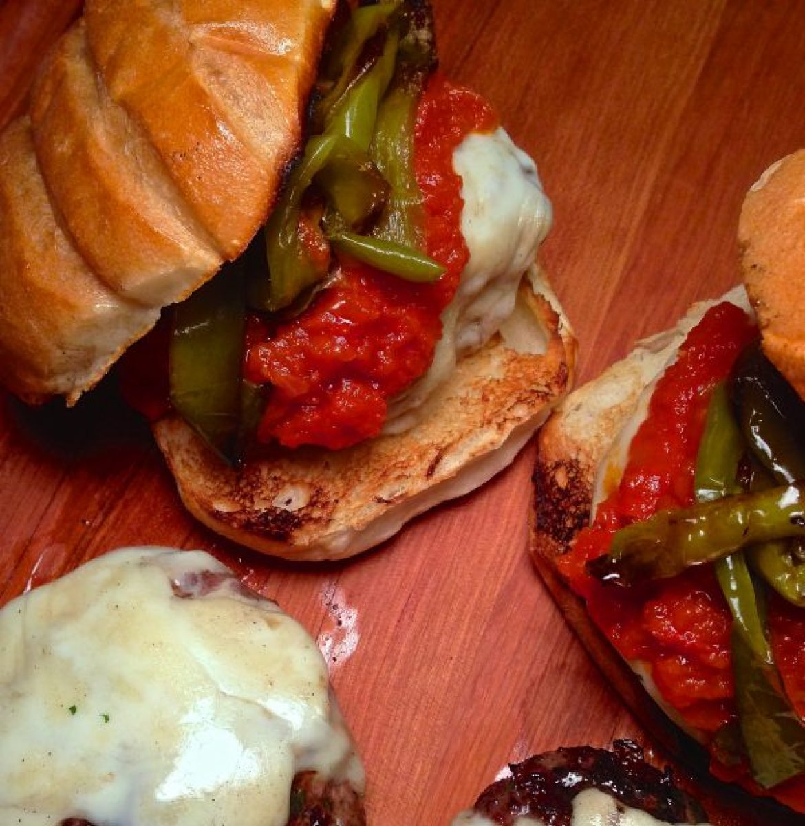 italian meatball burgers