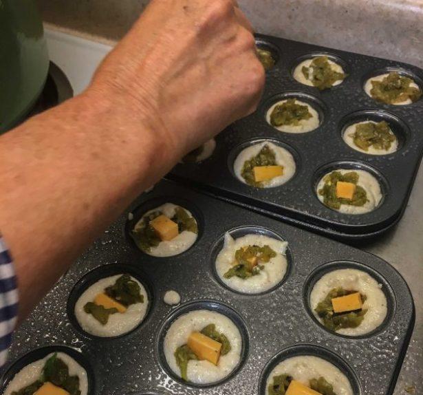 Green Chile Relleno Cornbread Bites