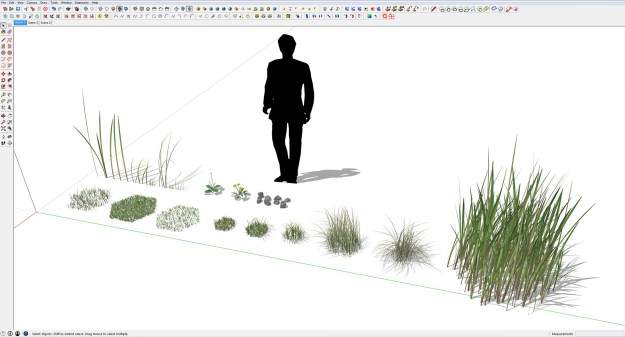 Sketchup collective of grassbundles