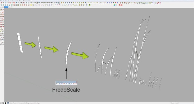Sketchup individuall grass