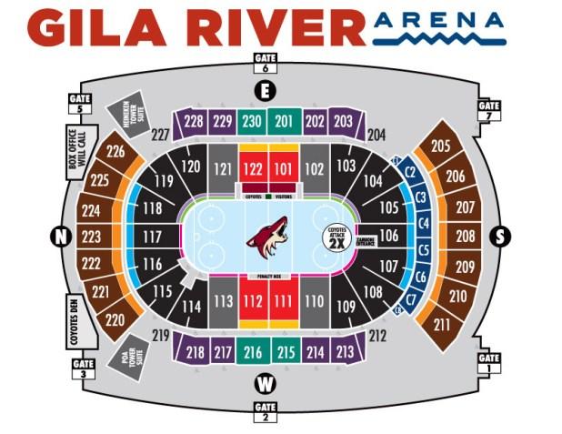 Coyotes seating chart arizona coyotes tickets 2018 az coyotes