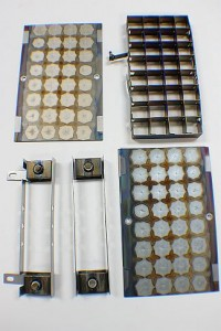 ion pump anode and cathodes