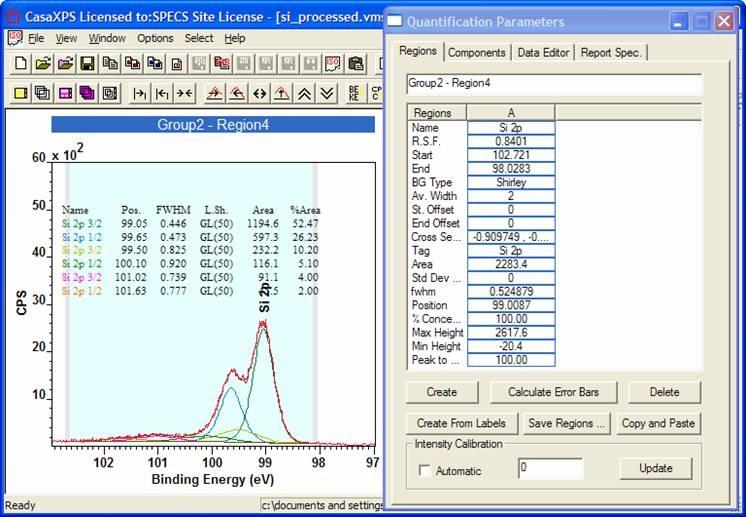 CasaXPS – Data processing software for XPS   RBD TechSpot