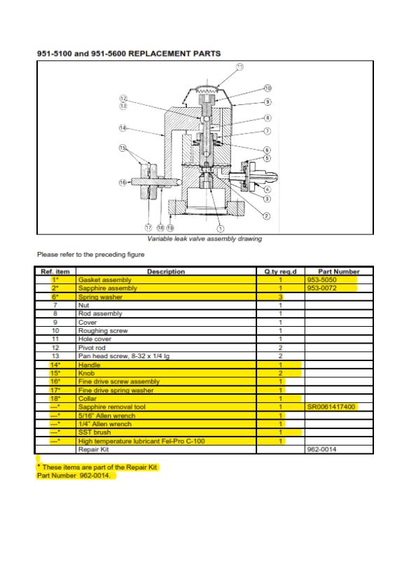 Valve repair kit parts list_001