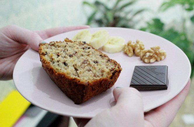 chocolate and walnut banana bread