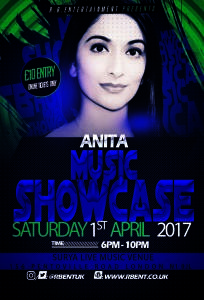 Anita Music showcase Flyer ACts