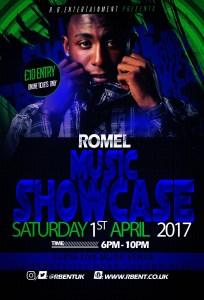 Romel Music showcase Flyer ACts