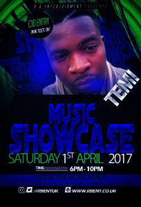 Temi Music showcase Flyer ACts