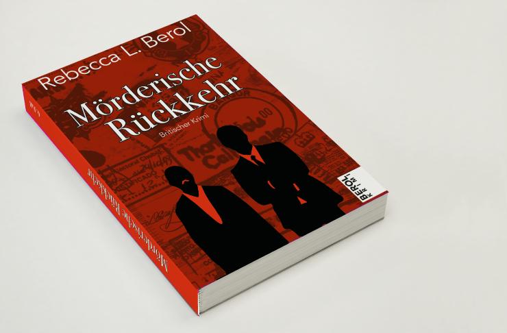 """Das rote Buchcover von """"Mörderische Rückkehr"""" – charakterstark und spannend – Berol Krimis"""