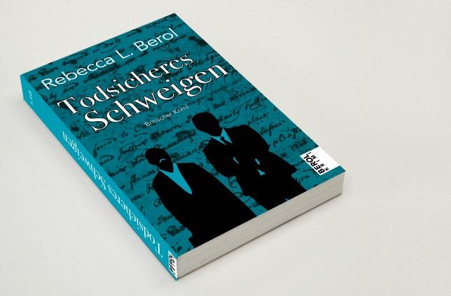 Das cyanfarbene Cover von Todsicheres Schweigen – Berol Krimis