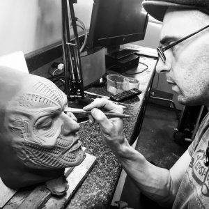 IMG 4077 300x300 - John Wrightson sculpting a Giger inspired design for RBFX