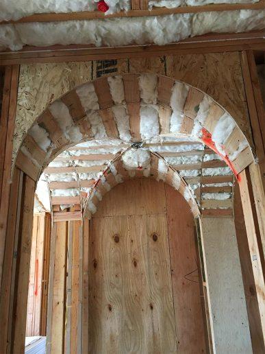 Insulated Walls arches in Custom Home
