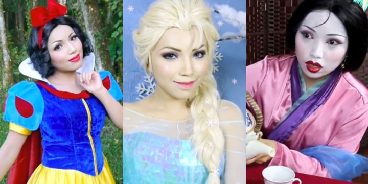 Disney Character Makeup The World Of Make Up - Makeup artist uses hijab to transform herself into disney characters