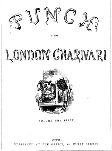 The first Punch cover, from 1841