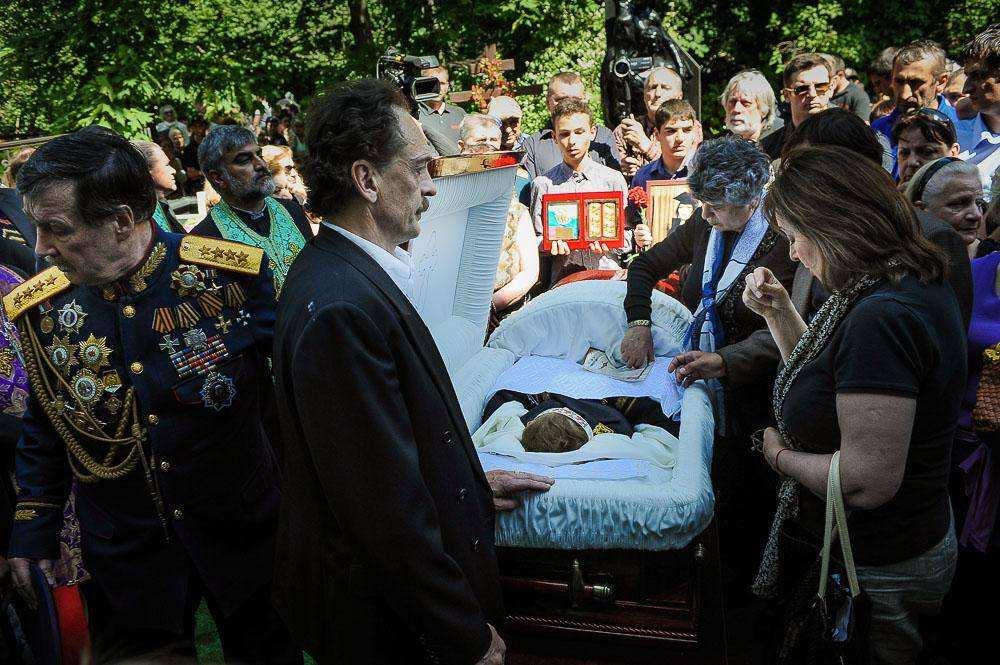Похороны Джуны Давиташвили. Фото