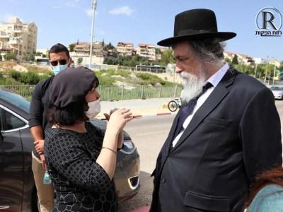 יצחק שפירא עם עליזה בלוך