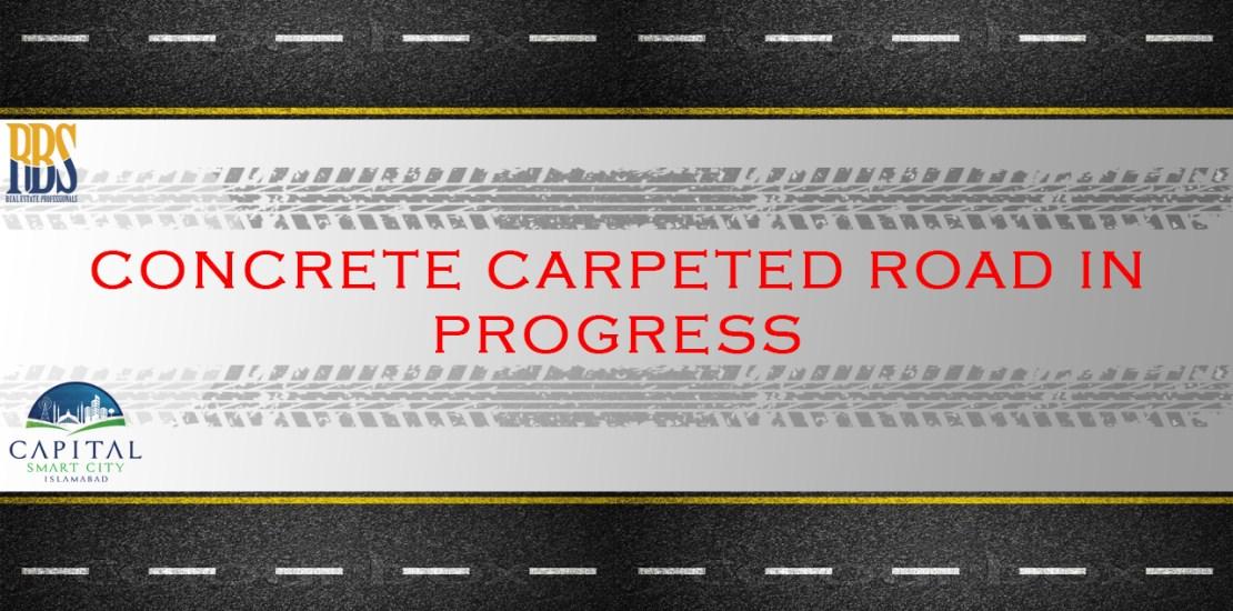 Concrete Carpeted Road