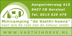 """Minicamping """"de Vasthihoeve"""", voor wie de rust van de natuur zoekt"""