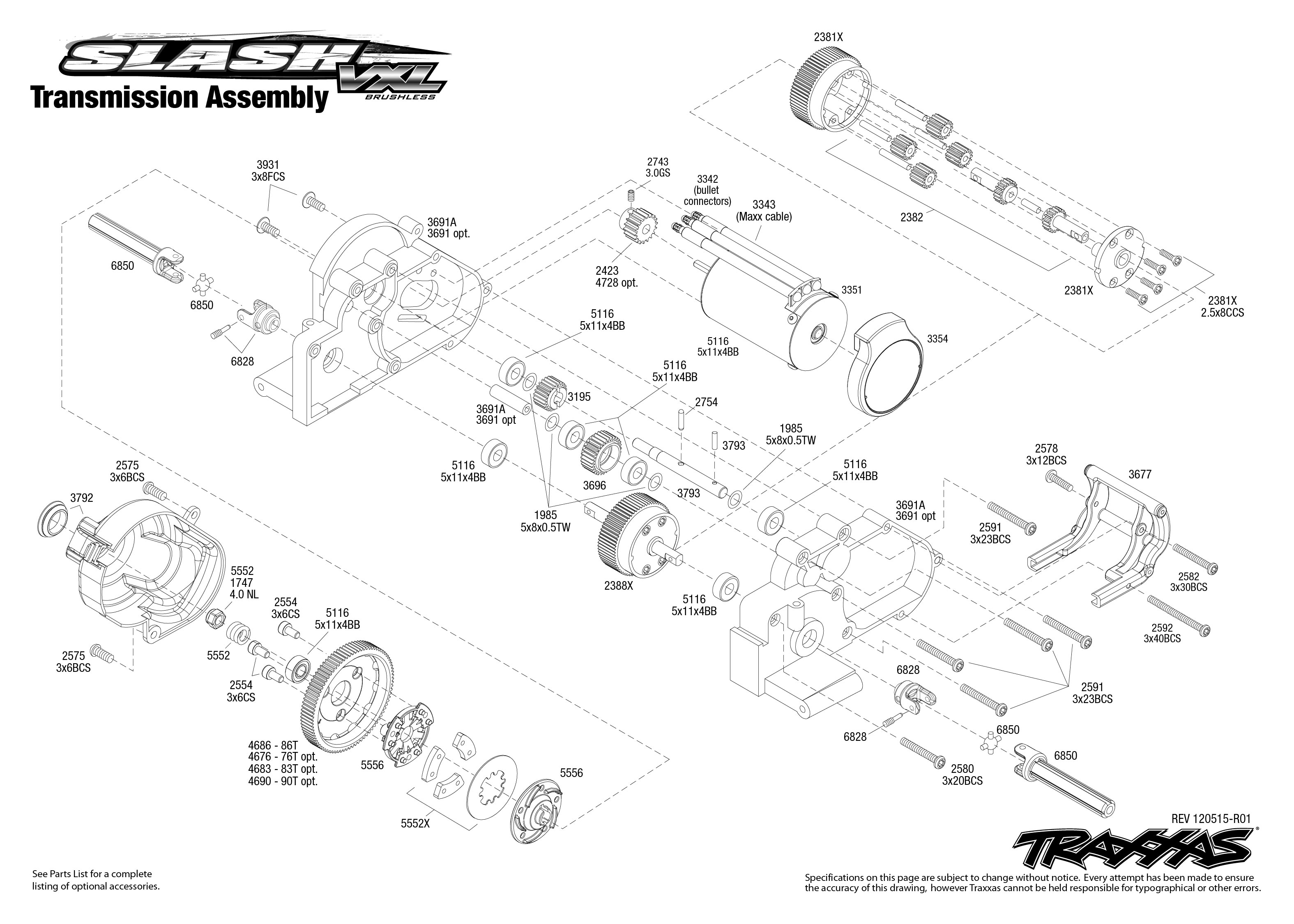 Traxxas Slash 2wd Parts Diagram