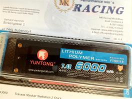 YunTong Lipo Akku 7,4V 6000mAh im Hard-Case 60C