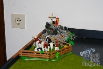 Ein kleiner Berg und Kühe dürfen auch ned fehlen.