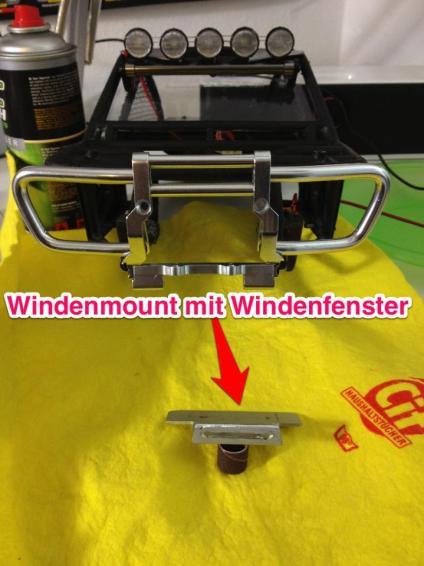 Wraith Alu Front Bumper mit handgemachten Windenfenster