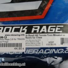 Proline Rock Rage 3.8 für TRAXXAS Summit auf Felge