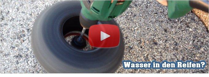 Wasser in Reifen - Wie kriegt man das wieder raus?