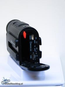 XTC 400 - Rückseite mit Schaltern und Anschlüssen
