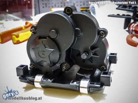 Mittelgetriebe und Motoraufnahme ist aufgebaut