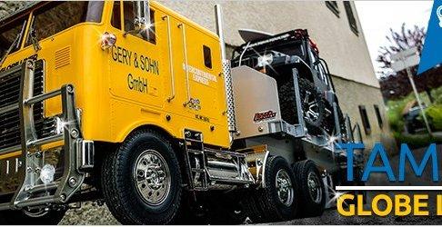 Tamiya Truck GLOBE LINER + Flachbettauflieger