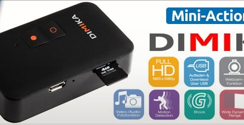 Mini Action Cam - DIMIKA 1080 Full HD