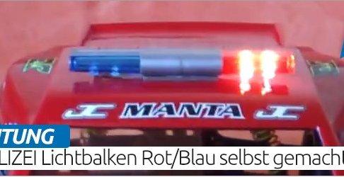 RC Polizei Lichtbalken Rot-Blau selbst gemacht! Anleitung-Deutsch