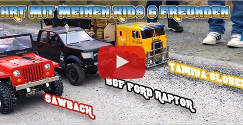 RC Truck Action - LKW Trucks, Scale-Crawler mit Anhänger in Action