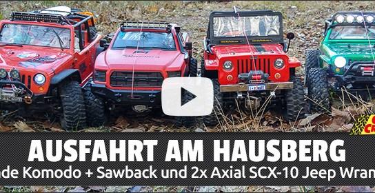 Ausfahrt mit dem Gmade Komodo + Sawback & Axial SCX-10 am Hausberg
